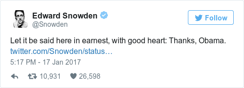 Tweet by @Edward Snowden