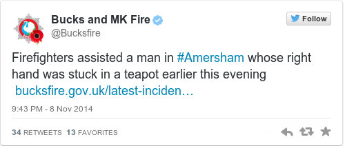 Tweet by @Bucks and MK Fire