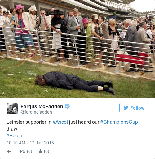 Tweet by @Fergus McFadden