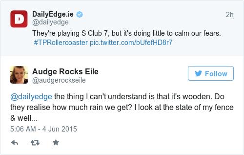 Tweet by @Audge Rocks Eile