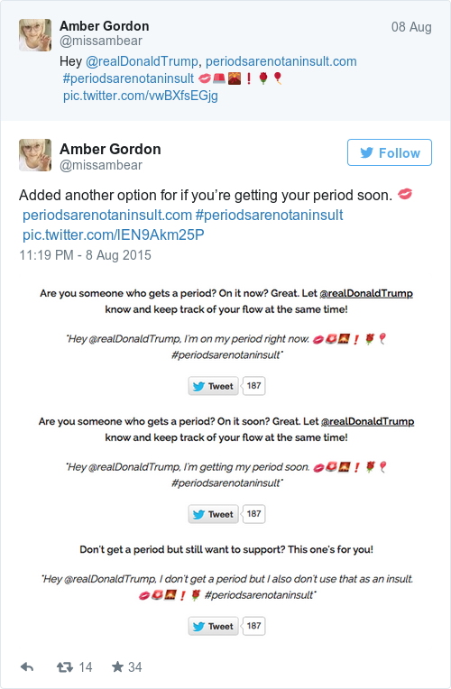 Tweet by @Amber Gordon