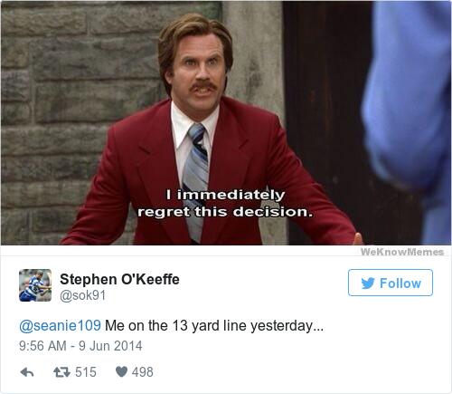 Tweet by @Stephen O'Keeffe