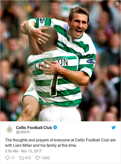 Tweet by @Celtic Football Club