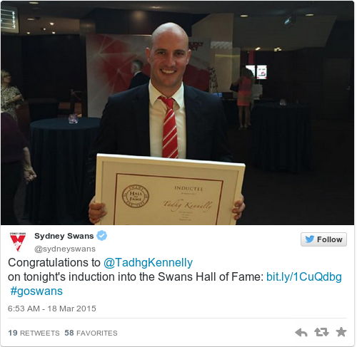 Tweet by @Sydney Swans