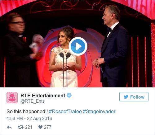 Tweet by @RTÉ Entertainment
