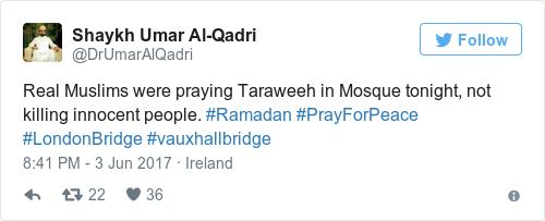 Tweet by @Shaykh Umar Al-Qadri