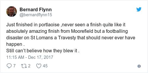 Tweet by @Bernard Flynn