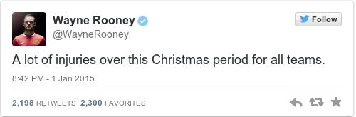 Tweet by @Wayne Rooney