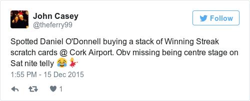 Tweet by @John Casey