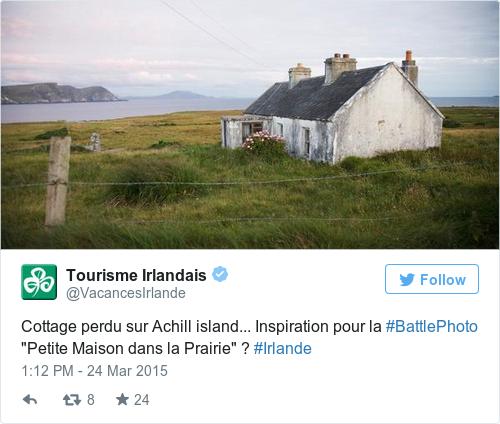 Tweet by @Tourisme Irlandais
