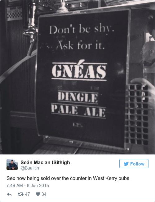 Tweet by @Seán Mac an tSíthigh