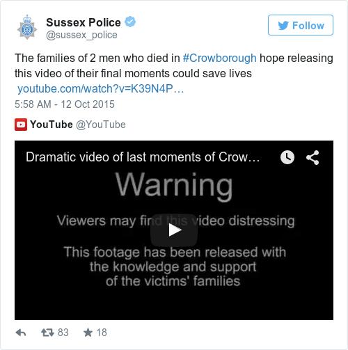 Tweet by @Sussex Police