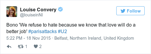 Tweet by @Louise Convery