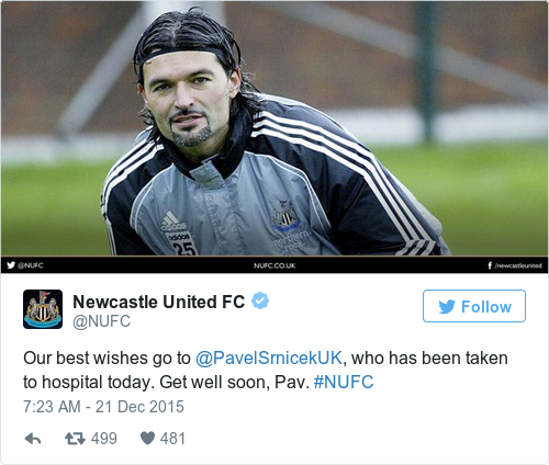 Tweet by @Newcastle United FC
