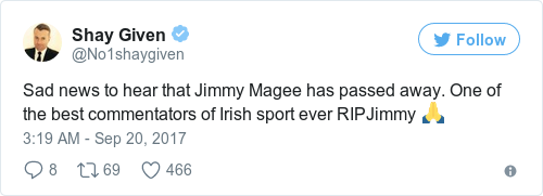 Tweet by @Shay Given