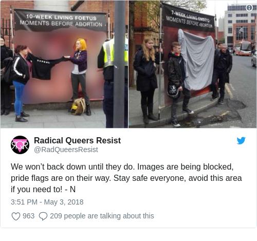 Tweet by @Radical Queers Resist