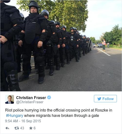 Tweet by @Christian Fraser
