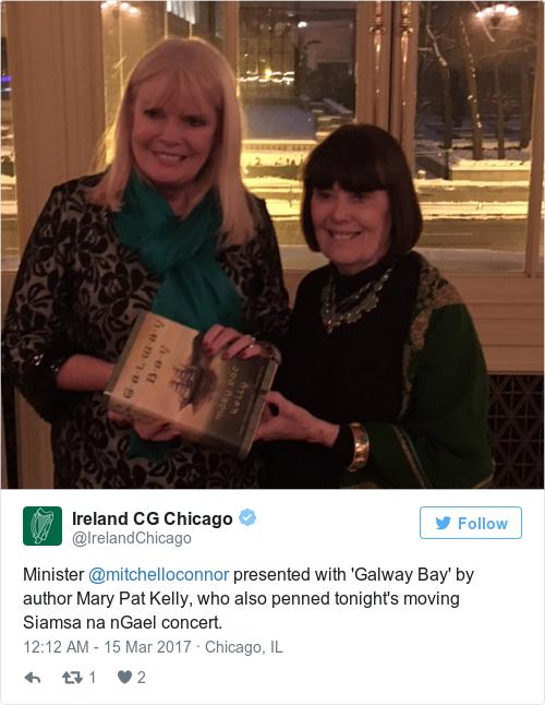 Tweet by @Ireland CG Chicago