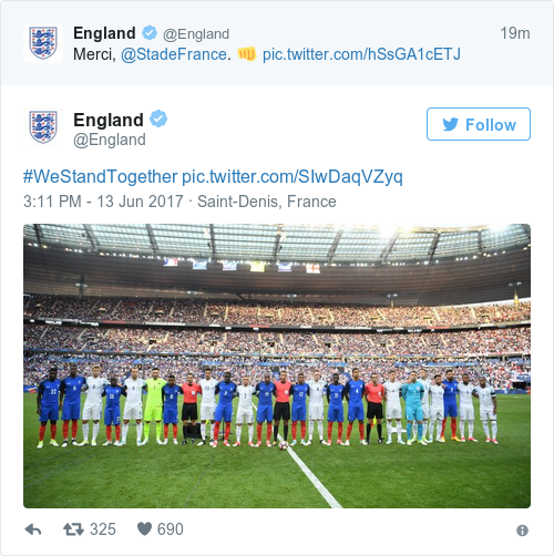 Tweet by @England