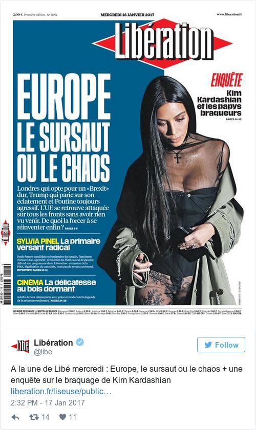 Tweet by @Libération