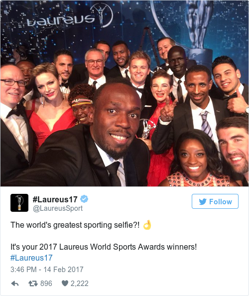 Tweet by @#Laureus17
