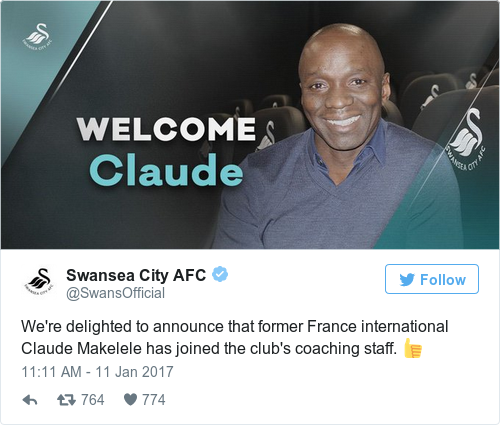Tweet by @Swansea City AFC