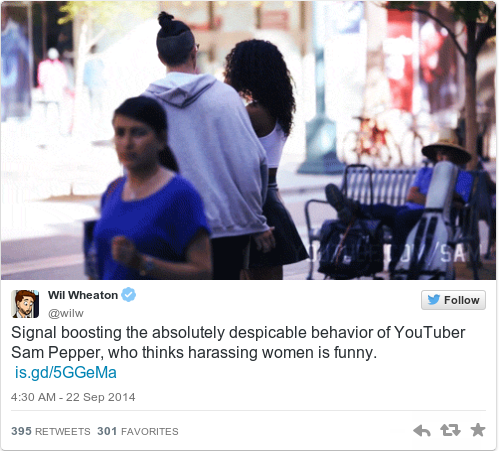 Sam pepper sexual harassment prank video