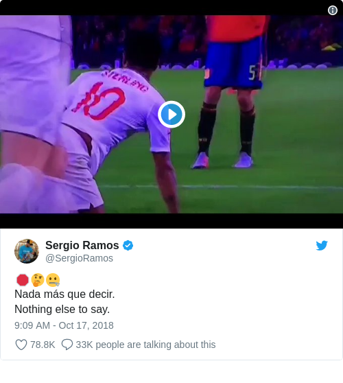 Tweet by @Sergio Ramos