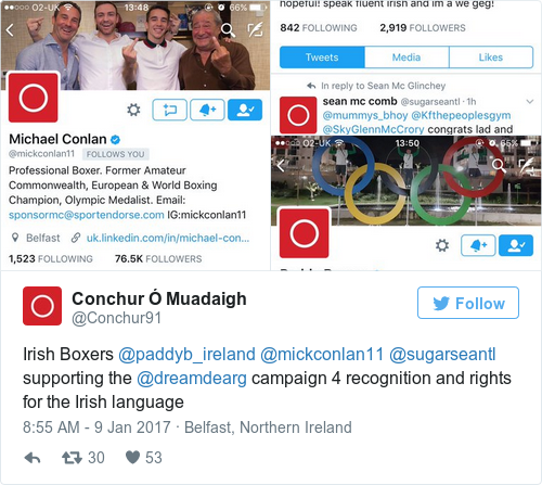 Tweet by @Conchur Ó Muadaigh