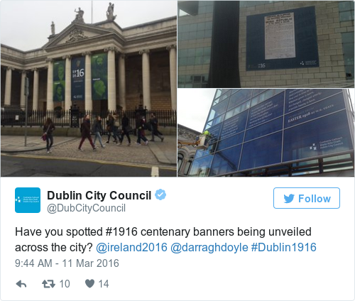Tweet by @Dublin City Council