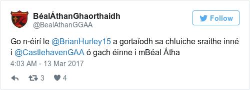 Tweet by @BéalÁthanGhaorthaidh