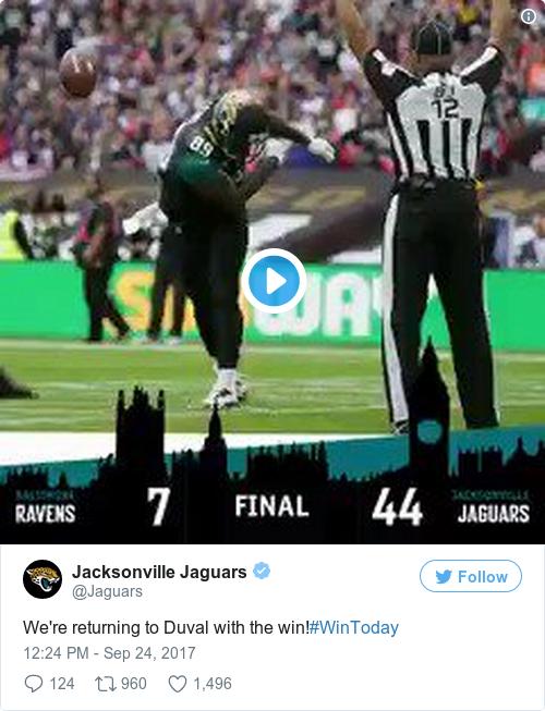 Tweet by @Jacksonville Jaguars