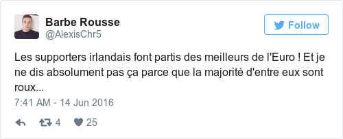 Tweet by @Barbe Rousse