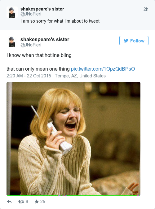 2624667fb2ca1e11f24eef5d274f03fb here's how drake's hotline bling took over the internet