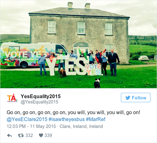 Tweet by @YesEquality2015