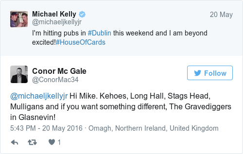 Tweet by @Conor Mc Gale
