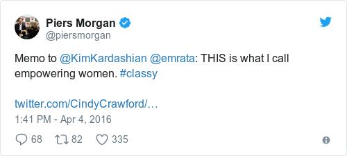 Tweet by @Piers Morgan
