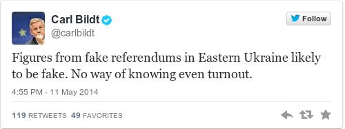Tweet by @Carl Bildt