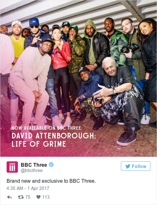 Tweet by @BBC Three