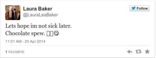 Tweet by @Laura Baker
