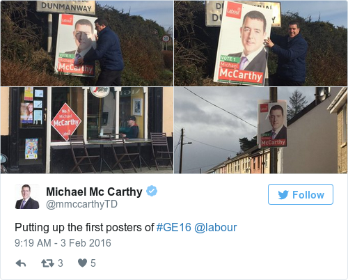 Tweet by @Michael Mc Carthy