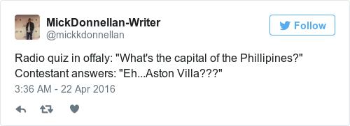 Tweet by @MickDonnellan-Writer