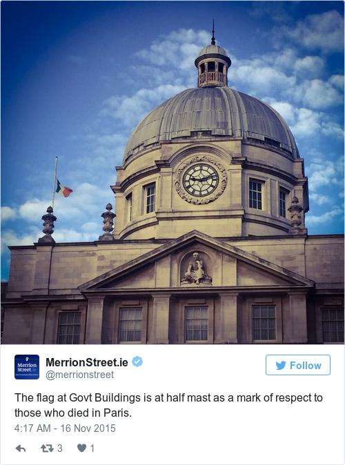 Tweet by @MerrionStreet.ie