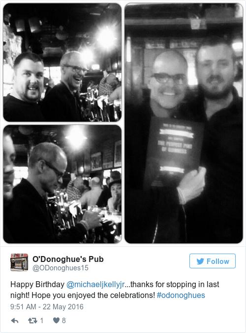 Tweet by @O'Donoghue's Pub