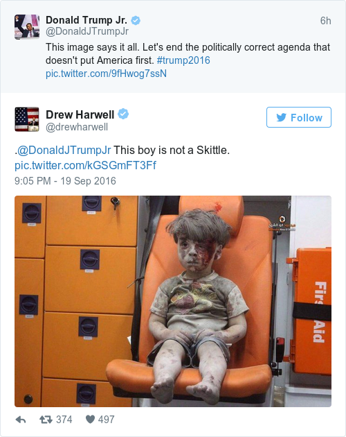 Tweet by @Drew Harwell