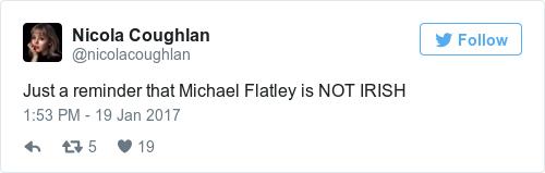 Tweet by @Nicola Coughlan