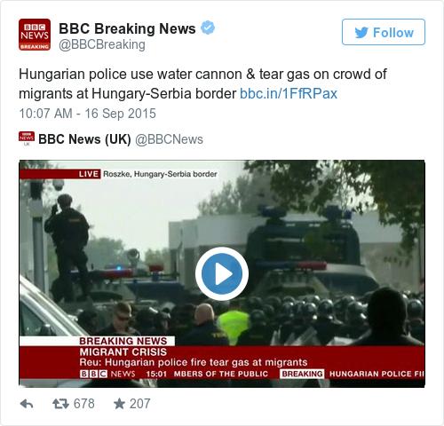 Tweet by @BBC Breaking News