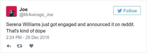 Tweet by @Joe