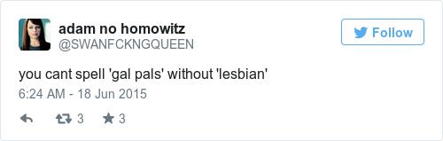 Tweet by @adam no homowitz