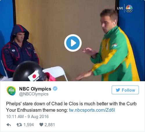 Tweet by @NBC Olympics